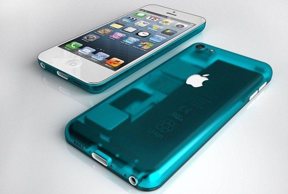 Konseptbilde av hvordan en rimeligere iPhone kunne sett til, laget av designeren Nickolay Lamm.