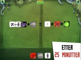 Dragonbox bytter ut tall med figurer for å gjøre det enklere å forstå hvordan man løser ligninger.