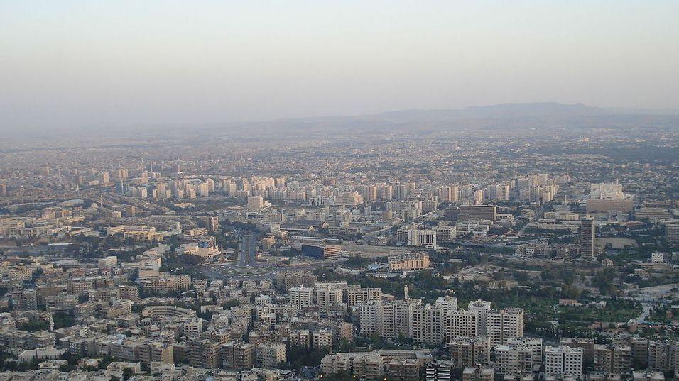 Syria har inntil videre meldt seg ut av Internett. Bildet viser hovedstaden Damaskus.