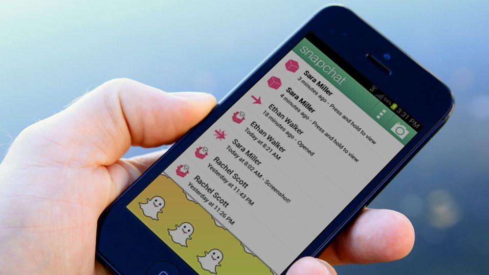 Snapchat finnes både til iPhone og Android. Det var en Android-mobil som ble benyttet da Hickman klarte å gjenopprette Snapchat-bilder.