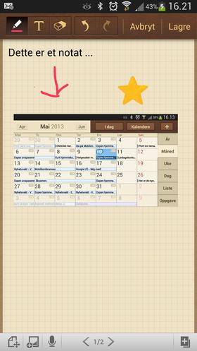Notat-appen S-memo er koblet opp mot skytjenester, og lar deg legge til mange både bilder og lyd i notatene dine.