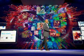 Adobe-sjef Shantanu Narayen på MAX-konferansen 2013. .