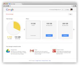 På denne siden får du oversikt over hvor mye lagringsplass du bruker.