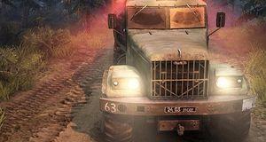 Kjør lastebil i skogen