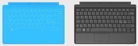 Touch Cover til venstre, Type Cover til høyre.