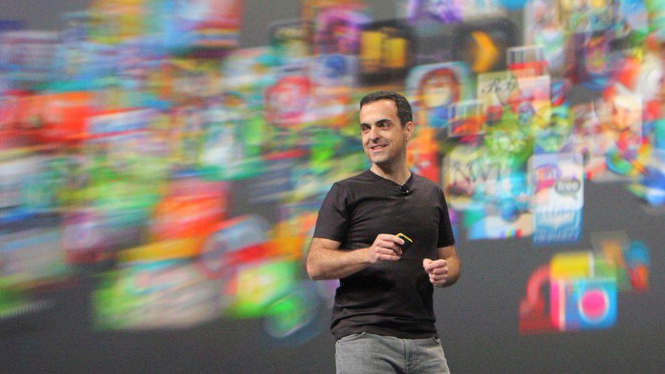 Visepresident i Googles Android-avdeling, Hugo Barra, under årets Google I/O-konferanse.