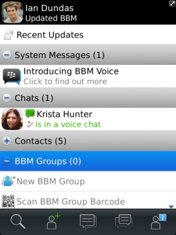 BlackBerry Messenger (BBM).