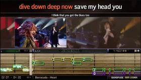 Grensesnittet i Band Fuse skil seg drastisk frå Rocksmith.