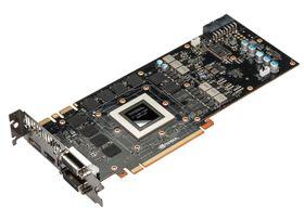 Nvidia GeForce GTX 780 med kjøleren fjernet.