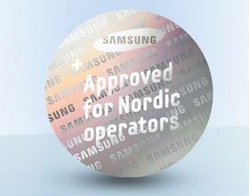 Samsung-mobiler som er godkjent for bruk i Norden vil ha dette merket.