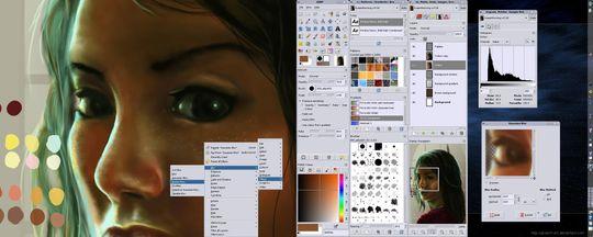 GIMP skal ifølge en anmeldelse i foto tidsskriftet Pop Photo være helt på høyde med Photoshop .