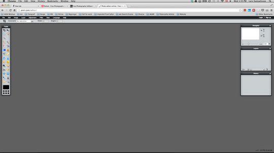 Faksimile fra Pixlr.