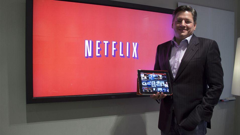 Innholdsansvarlig i Netflix, Ted Sarandos, under lanseringen av tjenesten i Norge i fjor høst.