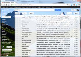 Slik ser Gmail ut i nettleseren på en PC i dag.