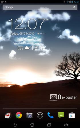 Brukergrensesnittet er Android 4 med noen få, mindre tilpasninger.