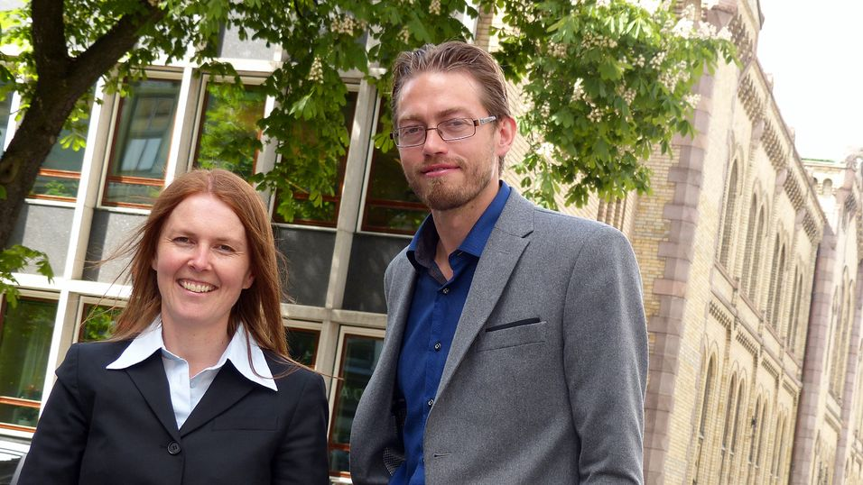 Lena Lundgreen, Nordisk leder for samhandling i Avanade, og markedssjef Bjørn Unnersaker.