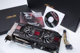 Asus GeForce GTX 770 DirectCU II OC med tilbehør.