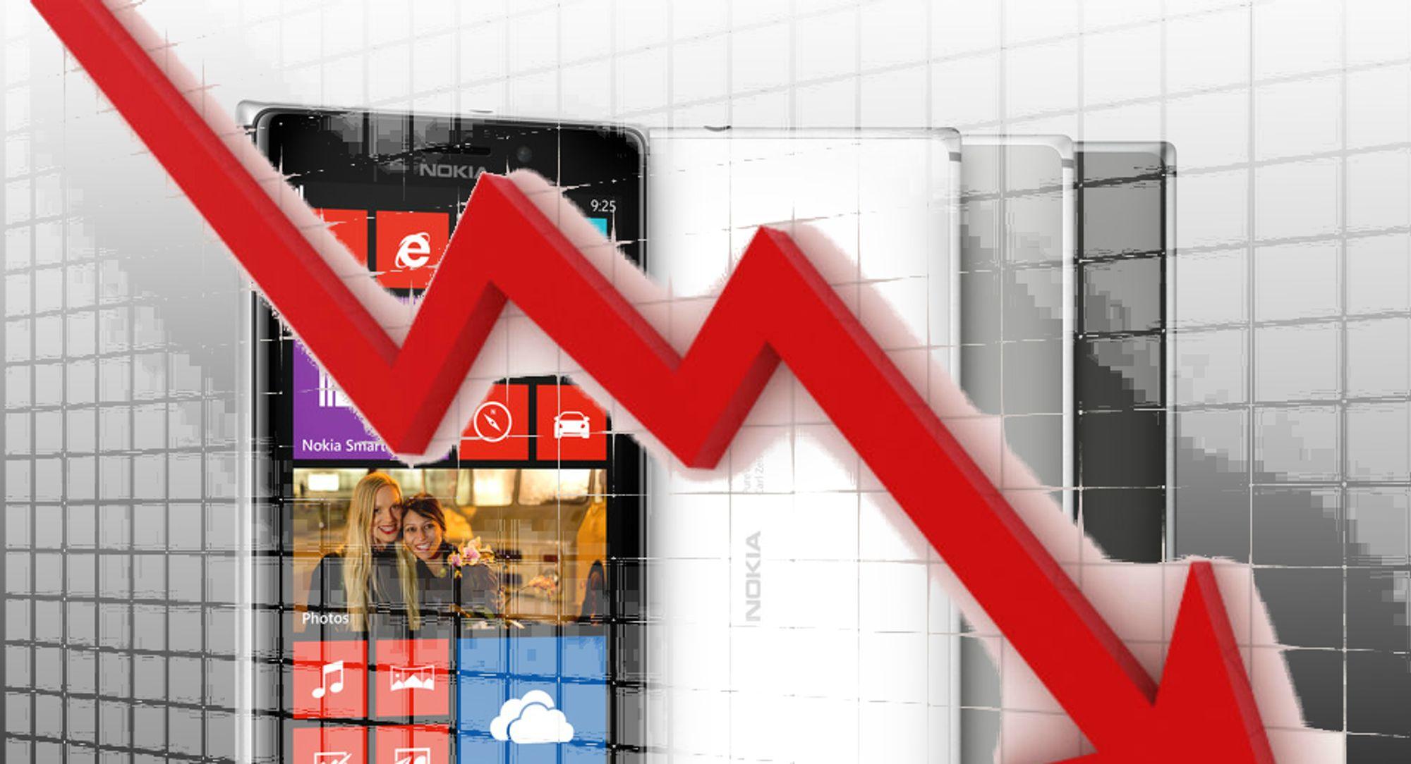 Nokias andel av mobilmarkedet har falt kraftig de siste årene. Nå er ikke engang selskapet størst på hjemmebane.