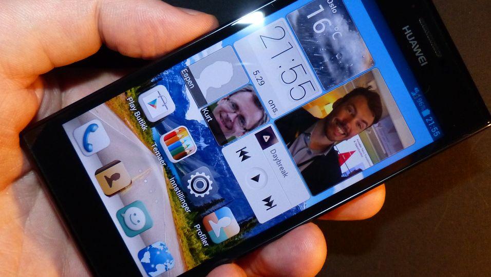 Skjermen er ett av de virkelige høydepunktene ved Huawei Ascend P2.