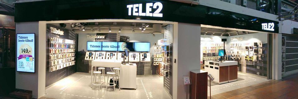 Tele2s butikk i Strømmen storsenter.
