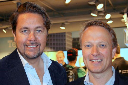 Tele2-sjef Arild hustad og Tele2 Privat-sjef Jon Ivar Bjørtomt er fornøyde med responsen på åpingstilbudene.