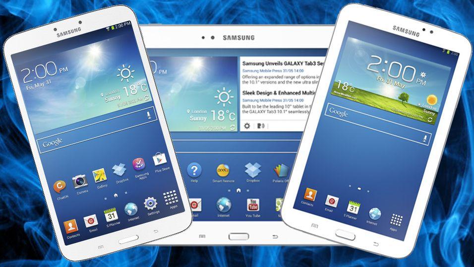 Samsung med tre nye nettbrett