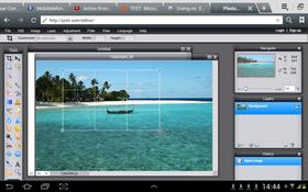 Denne tjenesten har svært nye til felles med Photoshop, og gjør det enkelt å redigere bilder på Android-brettet. Tjenesten virker også på PC. .