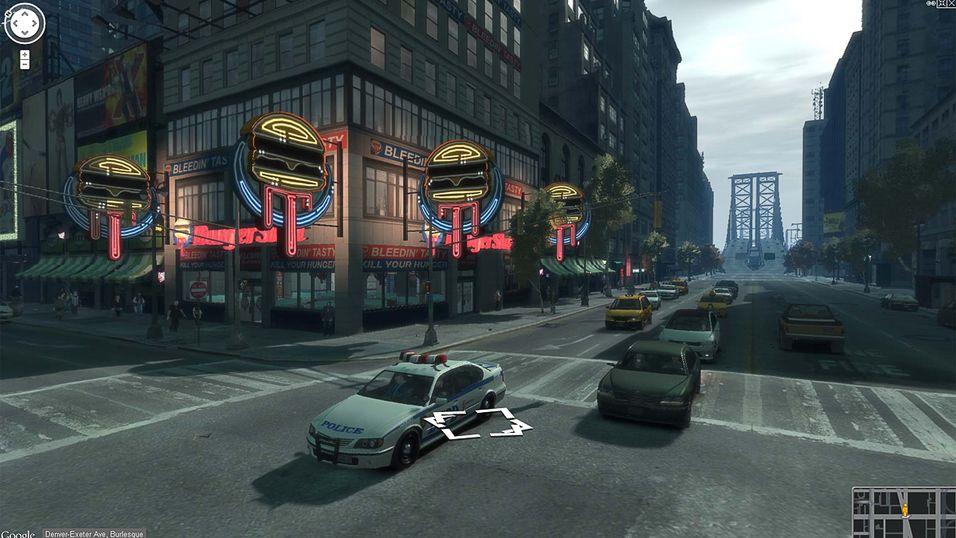 Utforsk GTA 4 i Google Street View