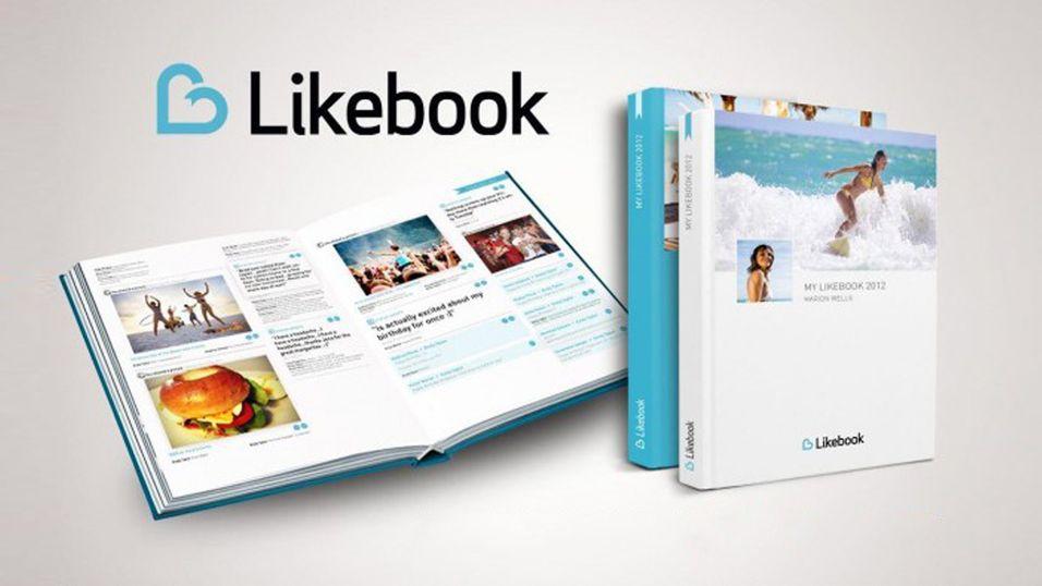 Likebook gjør Facebook-profilen din om til en bok