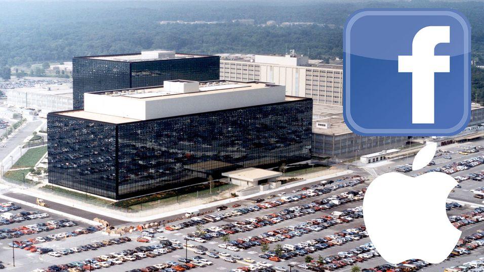 Hemmelige dokumenter viser at amerikanske myndigheter har direkteinnkobling til Facebook, Apple, Microsoft og flere. Bildet viser hovedkontoret til NSA, i Maryland.