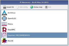 NOOBS lar deg velge hvilket operativsystem du vil installere.