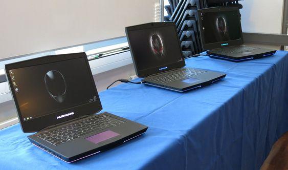 Fra venstre: Alienware 14, 17 og 18.