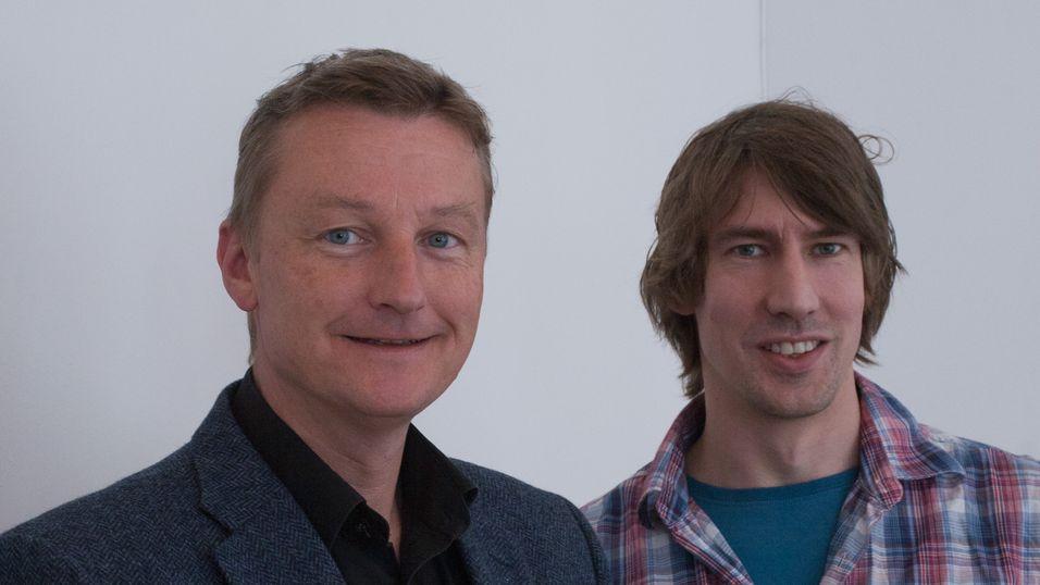 Daglig leder Tønnes Ingebrigtsen (venstre) og Kjetil Dahl-Hansen er begge engasjert i Mnemonics rekruttering.
