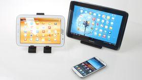 Her er deler av Galaxy-familien samlet. S4, Note 8.0 og Note 10.1.