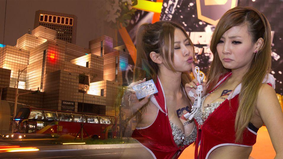 Se bildene fra teknofesten i Taiwan