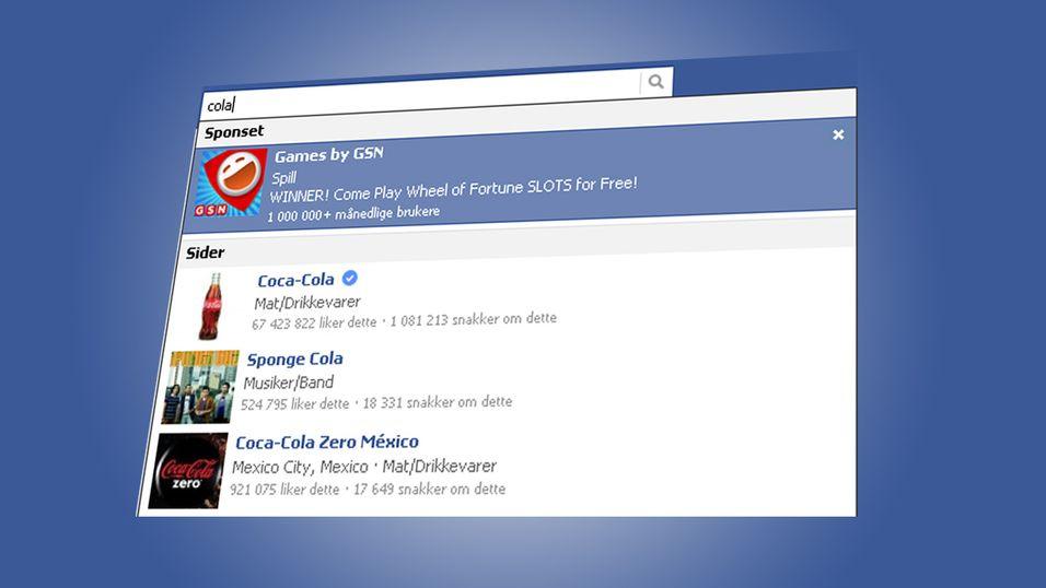 Facebook dropper sponsede resultater