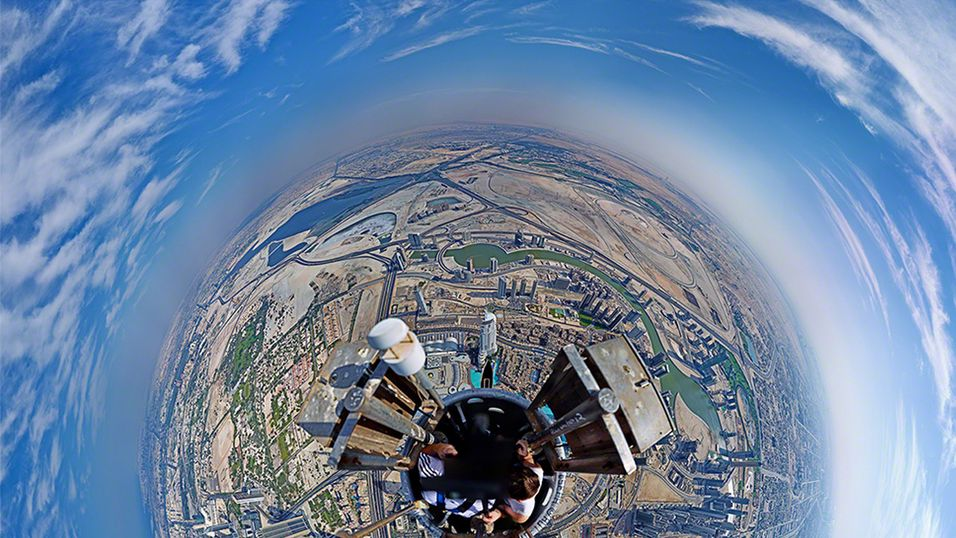 Slik ser Jorden ut fra verdens høyeste bygning