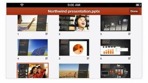 Powerpoint for iPhone.