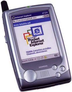 Siemens sx45, en PDA med Windows og trykkfølsom skjerm. Men prosessoren var svak, og grensesnittet lite fingervennlig.