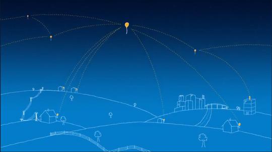 Googles ballonger driver rundt høyt oppe i stratosfæren.