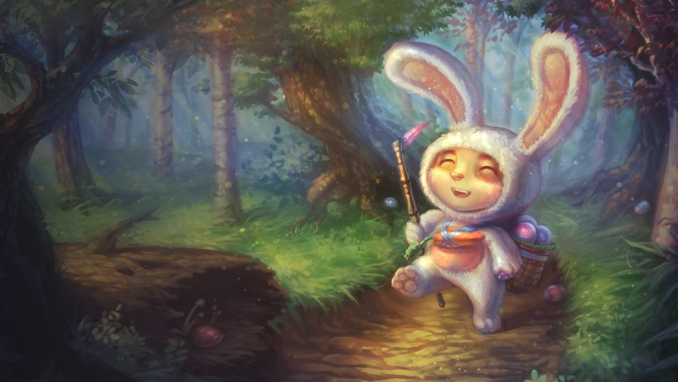 """""""Here comes Teemo Cottontail, hopping down the... """""""