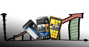 Pilene peker oppover for BlackBerry, Nokia og HTC