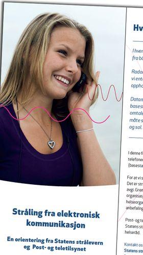 Brosjyren om mobilstråling kan lastes ned gratis fra Post- og teletilsynets nettsider.