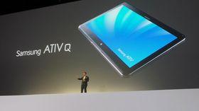 Ativ Q ser ut som et helt vanlig netbrett, men kjører Windows 8 Pro.