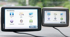 De to GPS-ene er så godt som like i menyene. Via 130 har noen ekstra valg fordi den har IQ Routes, og kan fungere som Bluetooth-håndfri, men det er stort sett det.
