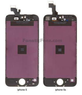 Kabinettet til henholdsvis iPhone 5 og 5S, ifølge Fanatic Fone.
