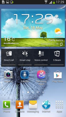 Skjermbilde fra Android 4.2.2 på Samsung Galaxy S III.