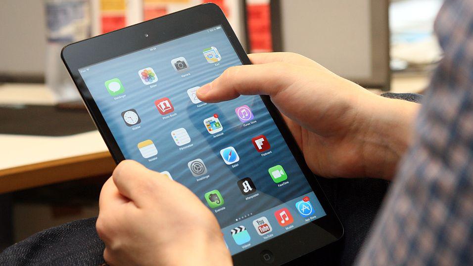 Dette er iOS 7 på en iPad