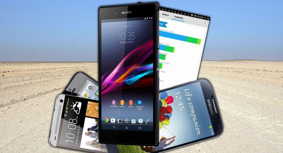 Xperia Z Ultra er den aller raskeste mobilen vil har lagt kleptopølsene våre på så langt.