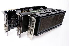 Våre tre GeForce GTX 760-modeller.